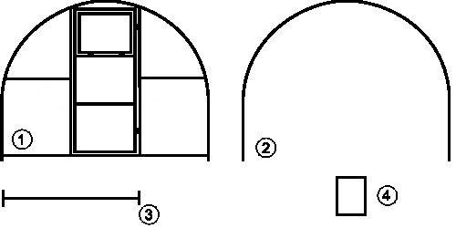каркаса теплицы (схема).